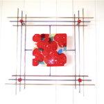 "May Poppies 27""w x 27""h x 3"" d- by Jill Casty Art"