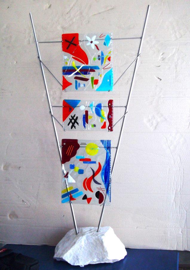 Homage to Miro 21.5 w x 46 h x 10 w - Jill Casty Art