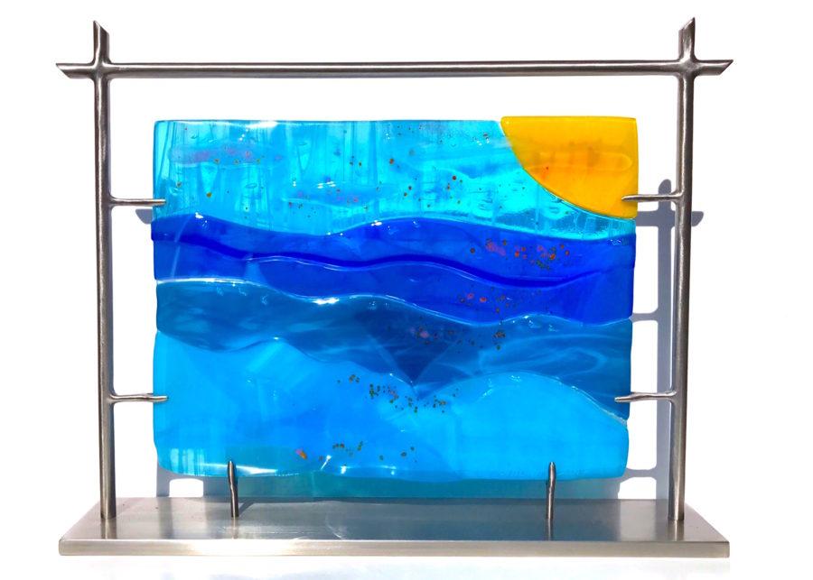 """By the Healing Waters 13""""w x 16""""h x 3.3""""d by Jill Casty Art"""