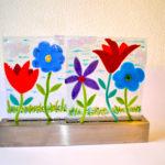 """Dance of Spring-16""""w x 11.5""""h x 3""""d by Jill Casty Art"""