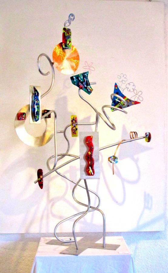 "Totem Poem 43""w x 72""h x 36""d by Jill Casty Art"
