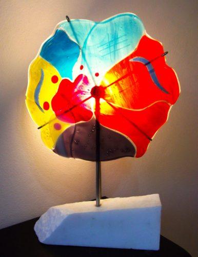 Glasslight 12' w x 21.5' h x 4.5' d - By Jill Casty Art
